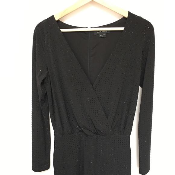 Marciano Jana Studded Wrap Dress - BLACK